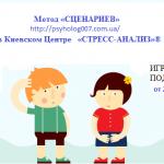 Метод «СЦЕНАРИЕВ» в Киевском Центре «СТРЕСС-АНАЛИЗ»®